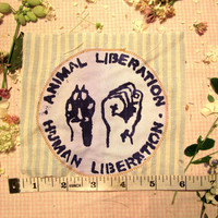 Animal/Human Liberation Patch LAYERED