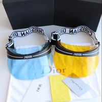 DIOR tide brand men and women anti-UV sunscreen visor sunglasses