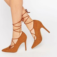 New Look Lace Up Heeled Court Shoe