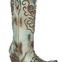 """Corral Turquoise Cord Stitching """"Ree"""" Boot"""