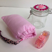Pink Rose Glass Pipe Gift Set