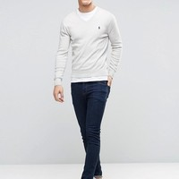 Polo Ralph Lauren Jumper With V-Neck In Grey at asos.com