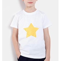 new fashion summer kids clothing brand STEVEN UNIVERSE STAR COOKIE CAT printing children boys girls t shirts short sleeve shirts