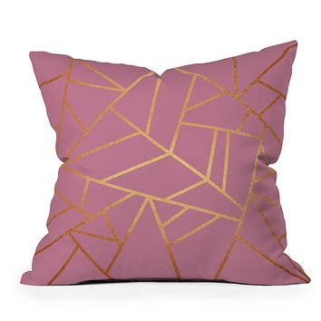 Elisabeth Fredriksson Copper and Pink Throw Pillow
