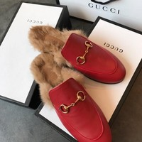 Gucci Princetown Leather Slipper #1635