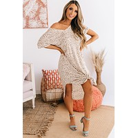 Market Days Animal Print Maxi Dress (Ivory)