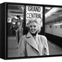 Marilyn Monroe, Grand Central Framed Canvas Print by Ed Feingersh at AllPosters.com