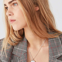ZHUU Etched Flower Locket Necklace | Urban Outfitters