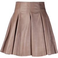 Leather Skirt in Taupe