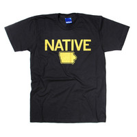 Iowa Native Black T-Shirt