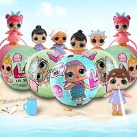 LQL Original Surprise Egg Dolls Pet Baby Girls Dress Up LOL Magic Ball Figure Boneca Toy Finger for Gift Funny Bath Toys LOL