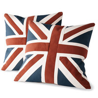 Old Hickory Tannery Union Jack Pillow Group - Horchow