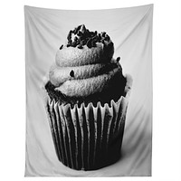 Allyson Johnson Black And White Cupcake Photograph Tapestry