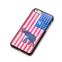 America Elephant iPhone 6+ Case Elephant on United States flag