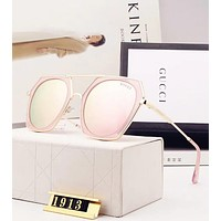Gucci Popular Women Sunglasses Summer Sun Shades Eyeglasses Glasses Sunglasses 2# Pink I12654-1