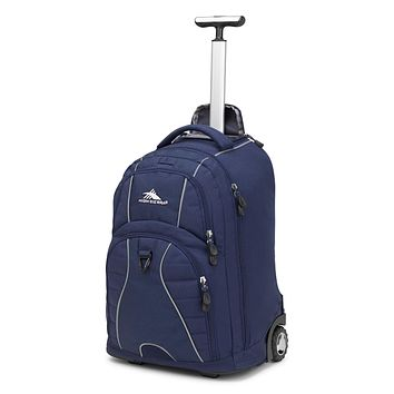 High Sierra Freewheel Wheeled Laptop Backpack 20.5 x 13.5 x 8-Inch True Navy