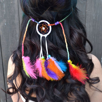 Rainbow Dreamcatcher Headband #A1004