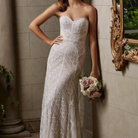 Wtoo by Watters Gia 14106 Strapless Fully Beaded Wedding Dress