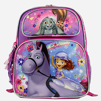 """Disney Sofia the First Girls 12"""" Small School Backpack Bag"""