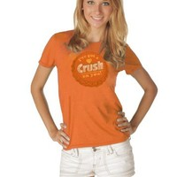 Crush Orange Soda I've Got A Crush On You Juniors Orange T-shirt