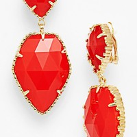 Kendra Scott 'Selma' Stone Drop Clip Earrings | Nordstrom