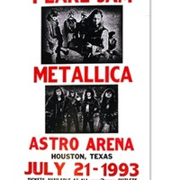 PEARL JAM & METALLICA AT ASTRO ARENA 1993 CONCERT POSTER: Gypsy Rose