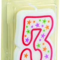 Cake Mate Birthday Party Candle - Numeral - 3 - 3 In - 1 Count - Case Of 6