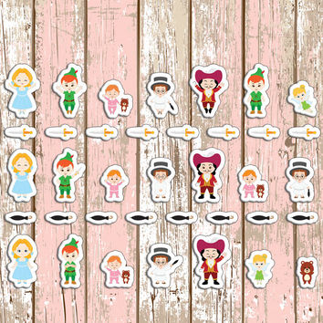 Neverland Planner Stickers | Erin Condren | Inkwell | Kikki K | Neverland | Peter Pan | Tinkerbell | Disney | Themed | Movie | Custom