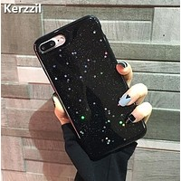 Bling Glitter Soft Silicone Case For iPhone 7 6 6S Plus Star Cover Shining Phone Cases For iPhone X 6 6S 8 Plus Capa