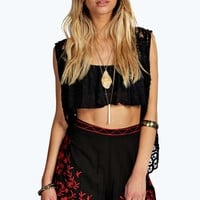 Emily Floral Embroidered Mexicana Style Shorts