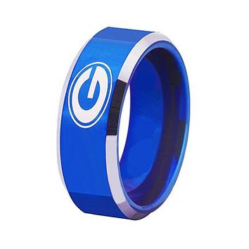 University of Georgia Bulldogs | UGA | Tungsten Ring Band | Blue and Silver | 8MM