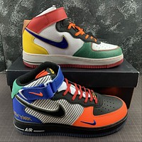 Morechoice Tuhz Nike Air Force 1 Mid Sneakers Velcro Casual Skaet Shoes Ct3610-101