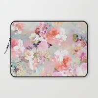 Love of a Flower Laptop Sleeve by Girly Trend
