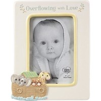 """""""Overflowing With Love"""" Noah's Ark Ceramic Photo Frame"""