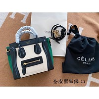 Celine Women Leather Shoulder Bags Satchel Tote Bag Handbag Shopping Leather Tote Crossbody