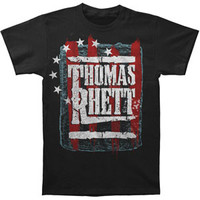 Thomas Rhett Men's  Stars & Stripes T-shirt Black