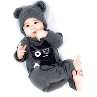 Spring Winter Romper For Baby Boys Clothes Long Sleeve Jumpsuits Deer Printing Cotton Infant Costume Kids Clothes