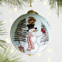 Li Bien Snowman Family Ornament