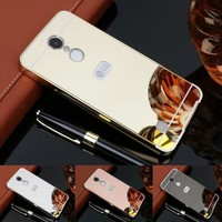 Fashion Luxury Rose Gold Mirror Case for LG Aristo LV3 V3 case MS210 M210 Back Cover for LG LV3 MS210 Mobile Phone Shell