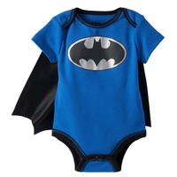 DC Comics Batman Caped Bodysuit - Baby Boy, Size: