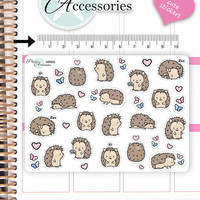 Kawaii Hedgehog Stickers Cute Hedgehog Stickers Hedgehog Stickers Planner Stickers Erin Condren Functional Stickers Decorative Sticker NR665