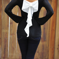 Something Wicked Bow Top: Black | Hope's