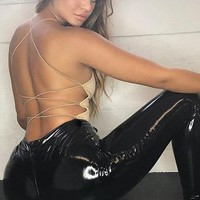Faux Leather Bodycon Sexy Pants