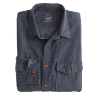 J.Crew Mens Irish Linen Field Shirt In Micro-Stripe
