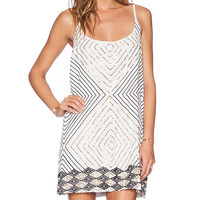Love Sam Nicolle Embellished Mini Dress in White