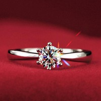 Simple CZ Solitaire Promise Ring