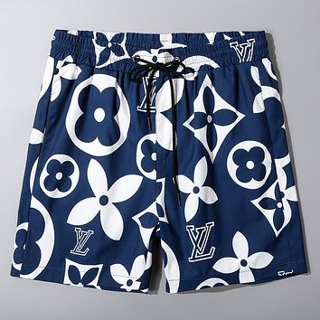 LV 2020 Early Spring New Printed Lettering Beach Shorts