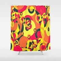 YIELD STOP ROUNDABOUT Shower Curtain by RokinRonda