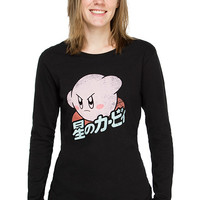 Kirby Ladies' Long Sleeve Tee - Black,