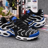 Nike Tn Black/royal Blue Sport Sneaker Shoe